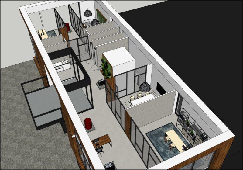 Het ideale kantoor van nu met covid-19